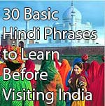 Basic Hindi Phrases to Learn before travelling to India