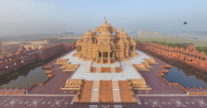 Swami Narayan Akshardham Temple Delhi India