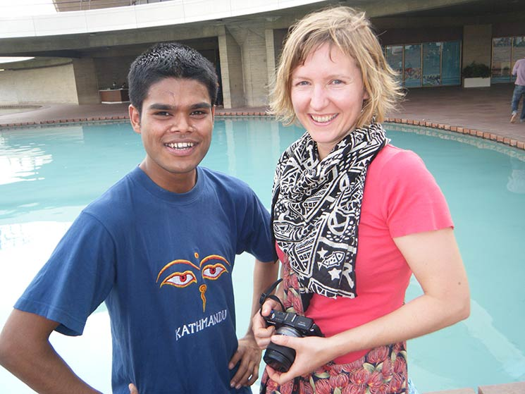 Anil Mahato & Anna Marie Miller(New Zealand) at Lotus Temple June 2012