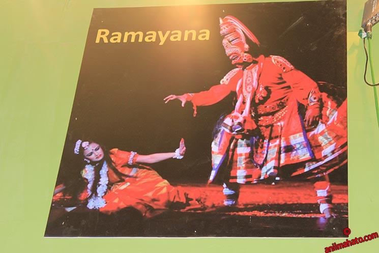 Demon Ravan & Goddes Sita on Ramayana