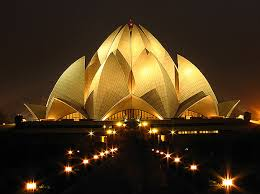 Lotus Temple at Night delhi