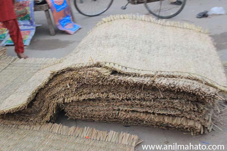 Hand Made Hay Mat for Sell at Lahan Bazar, Nepal