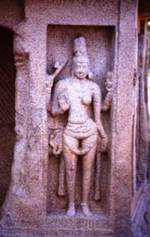 Ardhnarishwara Ancient Sculture Preserved at  Mahabalipuram, Tamil Nadu, India