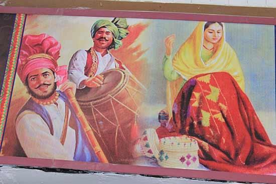 Playing Punjabi Dhol & Bhangra