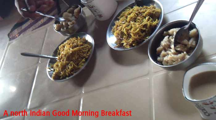 morning North indian breakfast
