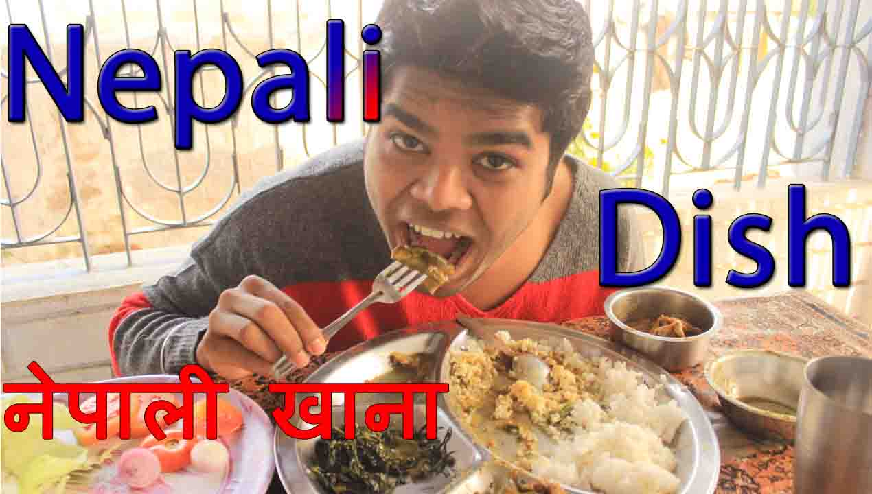 A Nepali Dish: You should Eat-Rice, Lentil, Mustard Green, Fish, Pickle