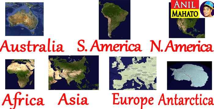 7 Continents Names in Hindi & English (महाद्वीपों के नाम)